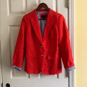 J. Crew orange blazer